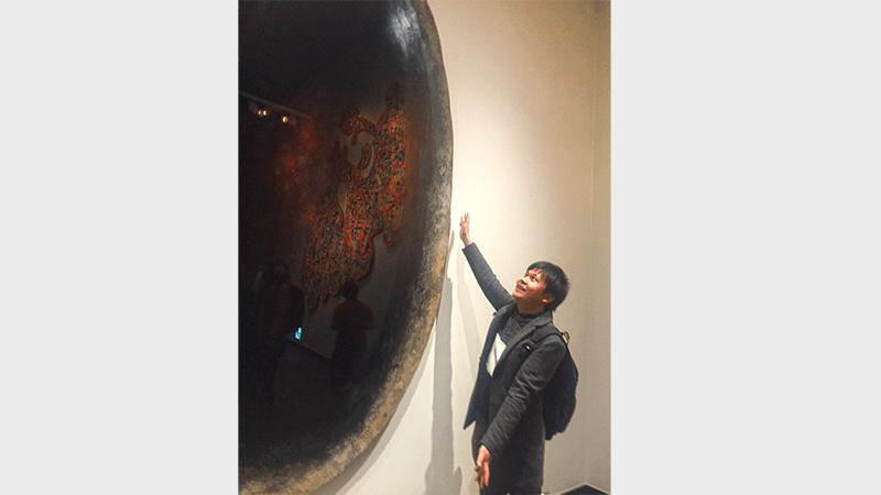 東京藝術大学 卒業・修了作品展 2018年 学習支援塾ビーンズ 見学 漆塗り オブジェ